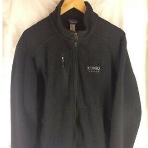 PATAGONIA fleece zip up w Iconiq embroidered on